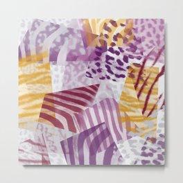 Abstract safari pattern Metal Print