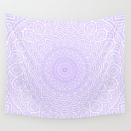 Purple Violet Mandala Design Extra Detailed Geometric Ethnic Tribal Pattern Wall Tapestry