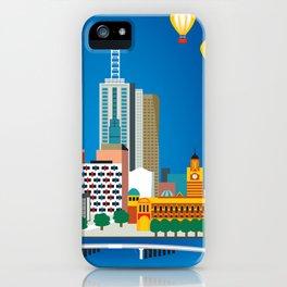 Melbourne, Australia - Skyline Illustration by Loose Petals iPhone Case