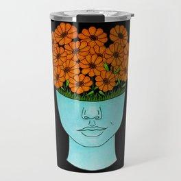 flowerhead flowerpot Travel Mug