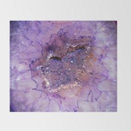 Amethyst Geode Throw Blanket