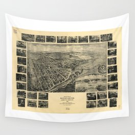 Bird's Eye View of Mountain Lake Park, Maryland (1906) Wall Tapestry