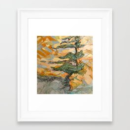 Dancing With Wind Framed Art Print