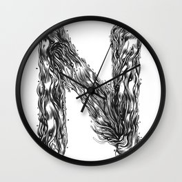 The Illustrated N Wall Clock