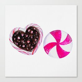 Holiday Candies Canvas Print