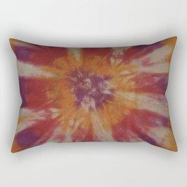 Tie Dye Orange Purple Red Rectangular Pillow
