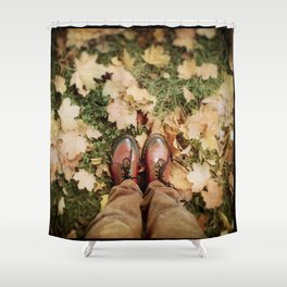 Shoes And Leaves Shower Curtain