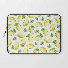 Lemon Watercolor Pattern Laptop Sleeve