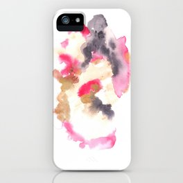 Watercolor Pink Black Flow | [dec-connect] 2. circling iPhone Case