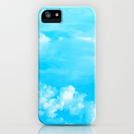Aerial Turquoise Clouds iPhone Case