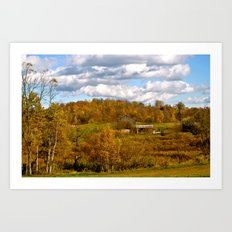 COUNTRY VIEW Art Print
