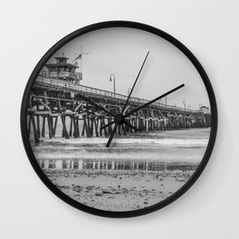 Northside San Clemente Pier Wall Clock