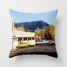 Souvenir Stand Throw Pillow