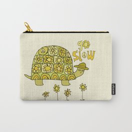 go slow retro turtle // art by surfy birdy Carry-All Pouch