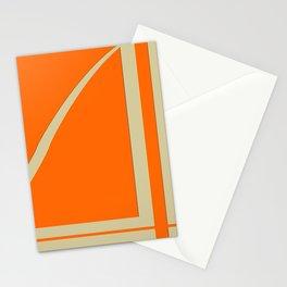 Orange shapes Stationery Cards