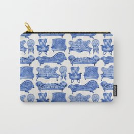 Victorian Lounge – Navy Palette Carry-All Pouch