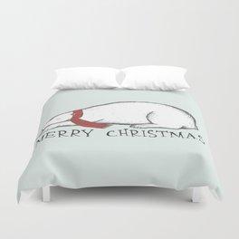 Dreaming Christmas Polar Bear Duvet Cover