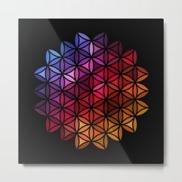 Flower of life mosaic Metal Print