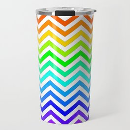Raibow pattern lines Travel Mug