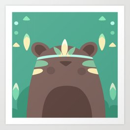 Native Bear Art Print
