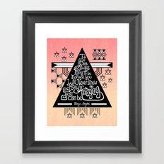 Be amazing Framed Art Print