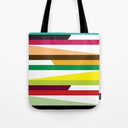 Geometric Pattern #73 (colorful stripes) Tote Bag