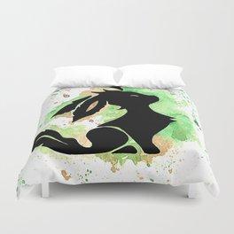 Leafeon Splash Silhouette Duvet Cover