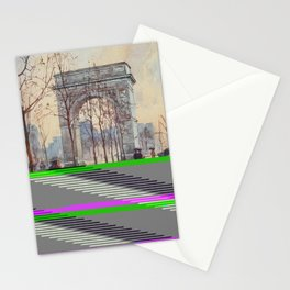 Lewis, Martin (1881-1962) - New York 1911 - Washington Arch on a wet day Stationery Cards