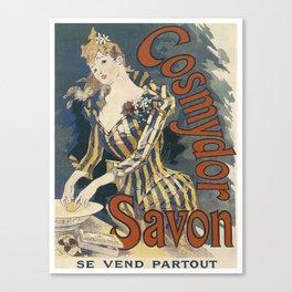 Vintage poster - Cosmydor Savon Canvas Print