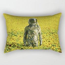 Stranded in the sunflower field Rectangular Pillow