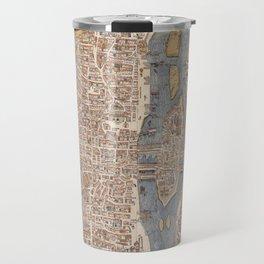 Vintage Map of Paris (1550) Travel Mug