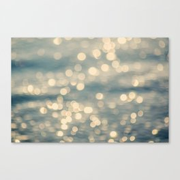 Sunlight Dancing on the Sea Canvas Print