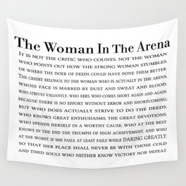 The Woman In The Arena Quote, Daring Greatly Speech Wall Tapestry