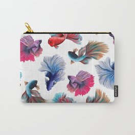 Colorful Fishes Design - Betta splendens  Carry-All Pouch