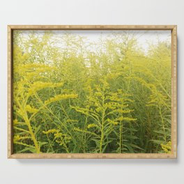 Yellow Goldenrod Serving Tray