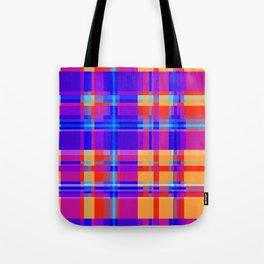 Striped 2X Blue and Orange Tote Bag
