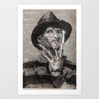 freddy krueger Art Prints featuring freddy krueger by calibos