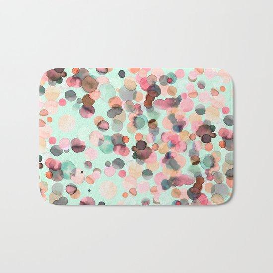 Pastel color drops Bath Mat