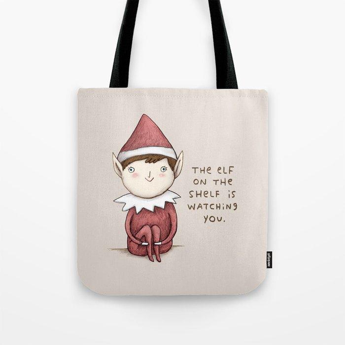 The Elf on The Shelf Tote Bag