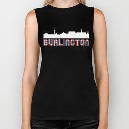 Red White Blue Burlington Vermont Skyline Biker Tank