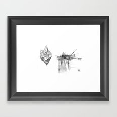 Floating City Framed Art Print