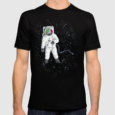 SPACE VISUAL ODYSSEY Mens Fitted Tee LARGE Black