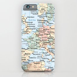 World Map Europe iPhone Case