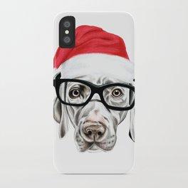 Christmas Weimaraner iPhone Case
