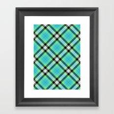 Blue Green Plaid Framed Art Print