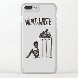What a Waste Clear iPhone Case