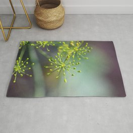 Dill Abstract on Mint Green and Plum Rug