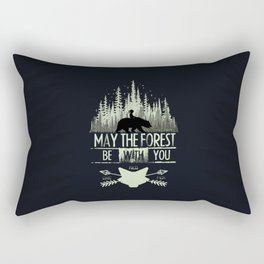 May The Forest Be With You Rectangular Pillow