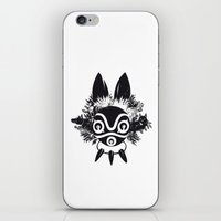 mononoke iPhone & iPod Skins featuring MONONOKE by kravic