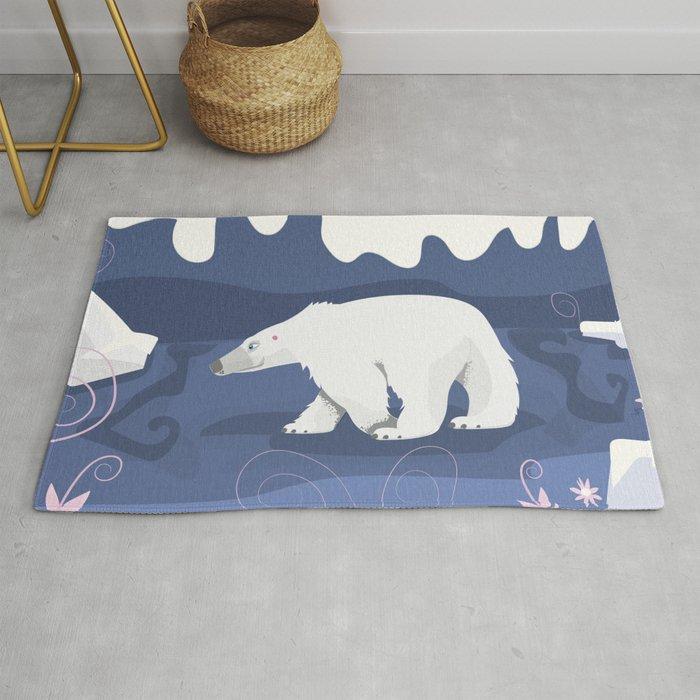 Vintage Polar Bear Illustration in the
